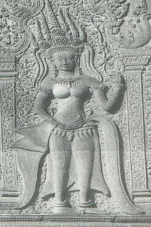 Apsara from the 8th century
